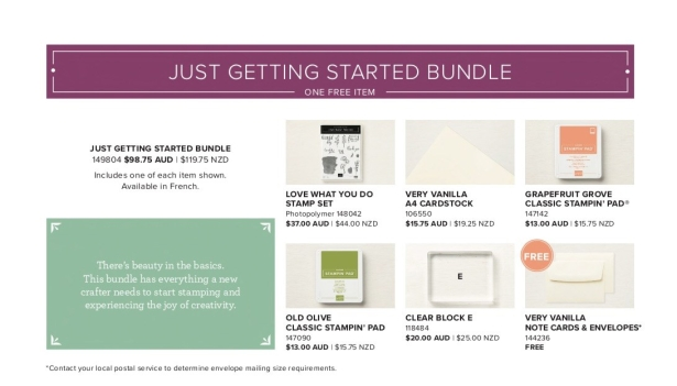 Just Getting Started Bundle